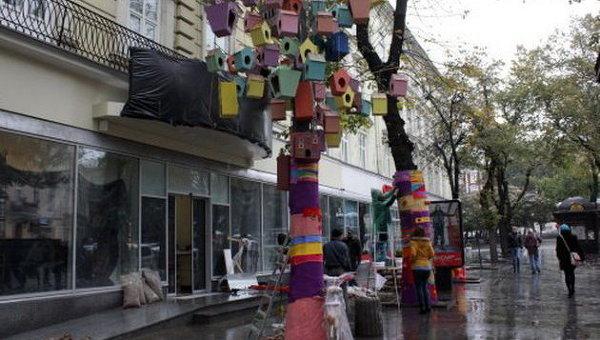 Магазин Roshen готовится к открытию на месте Сбербанка России