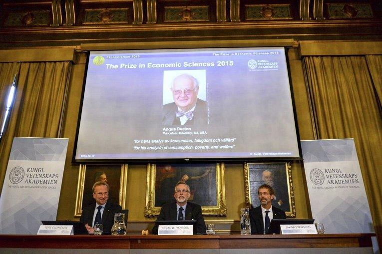 Нобелевская премия по экономике присуждена англо-американскому ученому Энгусу Дитону за анализ потребления, бедности и благосостояния.