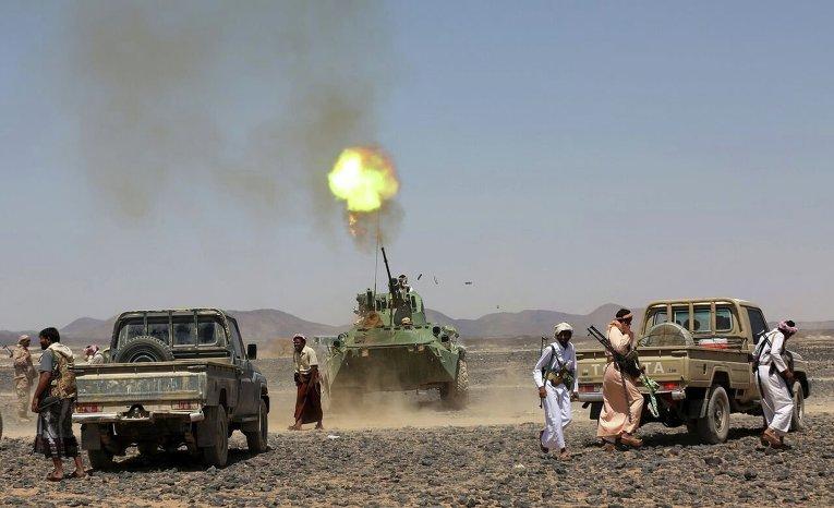 Бойцы народного сопротивления в Йемене.