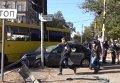 Авария с маршуткой в Мариуполе, один человек погиб. Видео