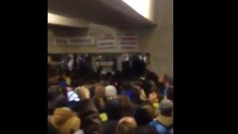 Гимн Украины в метро. Видео