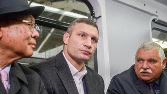 Кличко на презентации модернизованных вагонов киевского метрополитена
