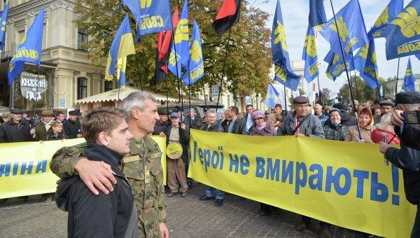Подготовка к Маршу Героев в Киеве