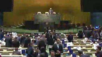 Заседание Генассамблее ООН по выбору непостоянного члена Совбеза