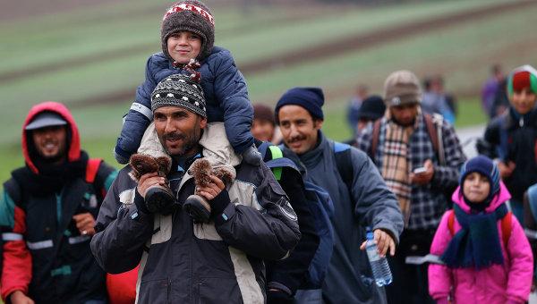 Нелегальные мигранты в Европе. Архивное фото