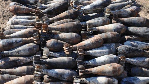 Минометные мины, обнаруженные в зоне АТО
