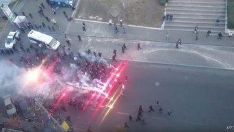 Фанаты перед матчем Динамо - Шахтер