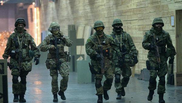 Тренировка спецназа КОРД МВД Украины
