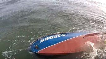 Крушение катера Иволга в районе Затоки. Спасательные работы. Видео