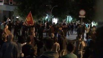 Акции протеста в Черногории. Видео