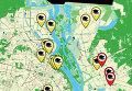Карта загрязнения воздуха в Киеве. Инфографика