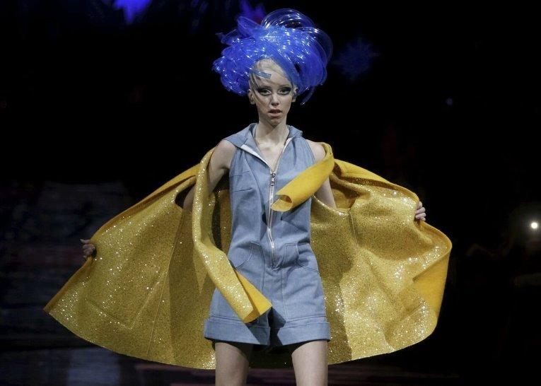 Коллекция Олега Залевского на Ukrainian Fashion Week в Киеве.