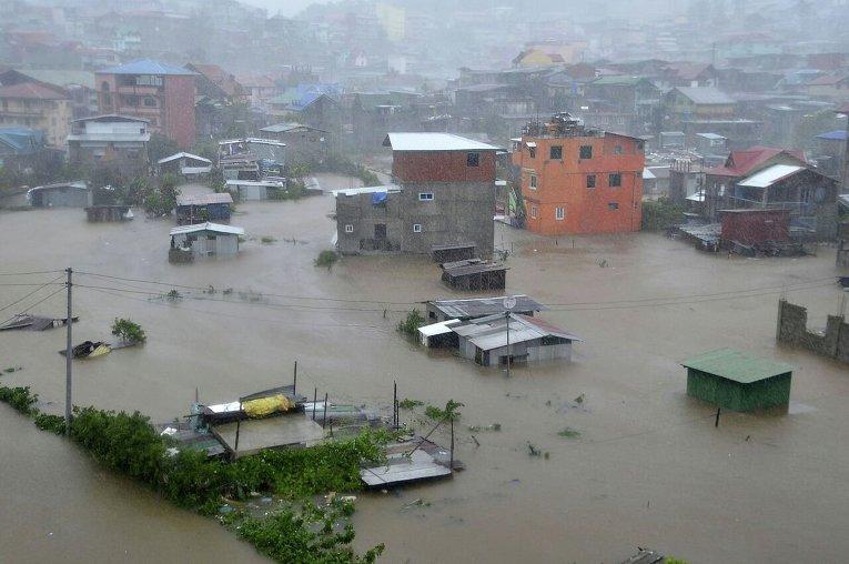 Наводнение на Филиппинах.