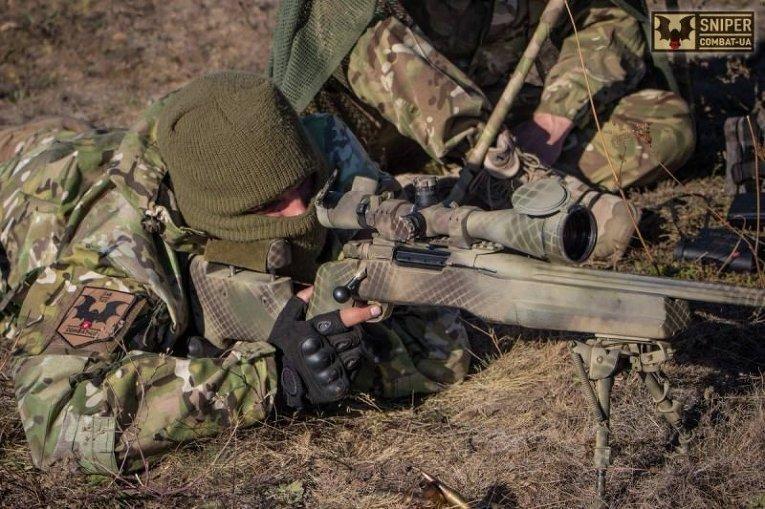 Подготовка снайперов 79 аэромобильной бригады в зоне АТО