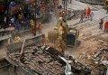 Последствия мощного взрыва в Рио-де-Жанейро