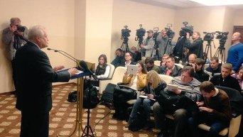 Представитель ОБСЕ на переговорах контактной группы по Украине Мартин Сайдик подводит итоги переговоров в Минске