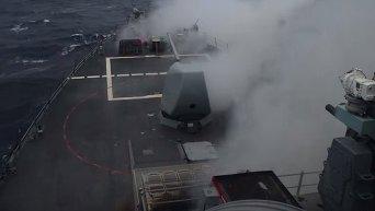 Перехват ВМС США баллистической ракеты. Видео