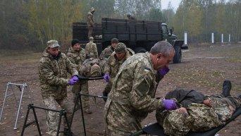 Учения по тактической медицине на Житомирском полигоне