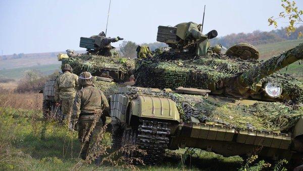Отвод танков, минометов калибром до 120 мм и артиллерийских систем сил АТО калибром менее 100 мм на дебальцевском направлении