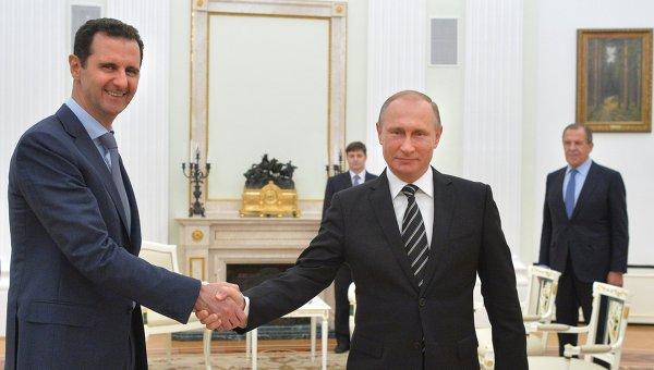 Президент Сирии Асад и президент России Путин