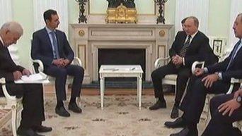 Переговоры Владимира Путина и Башара Асада в Москве