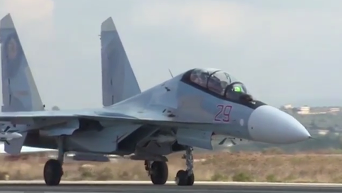 Будни истребительной авиации ВКС РФ на авиабазе в Сирии. Видео