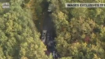 Резонансное ДТП во Франции: съемка с вертолета. Видео