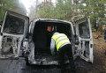 На месте нападения на инкассаторов ПриватБанка под Черниговом