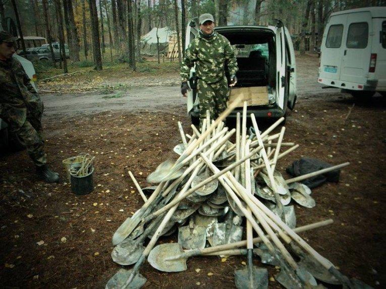 Задержание нелегальных добытчиков янтаря на Волыни