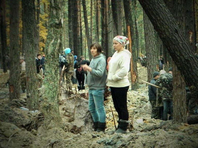 Нелегальные добытчики янтаря в Волынской области