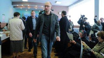 Арсений Яценюк на выборах