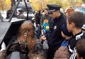 Задержание Чубакки перед избирательном участком в Одессе. Видео