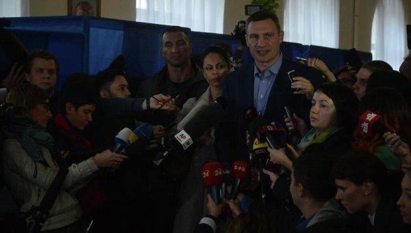Виталий Кличко после голосования