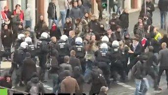 Митинг против антимусульманского движения в Германии. Видео