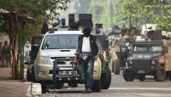 Облава полиции на террористов Исламского государства в Турции.