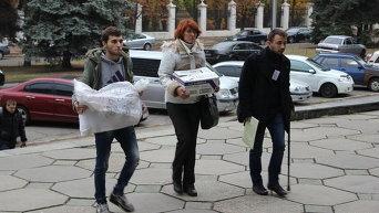 Сбор протоколов и бюллетеней в Днепропетровске