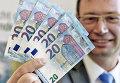 Презентация новой купюры достоинством в 20 евро в офисе Федерального банка Германии