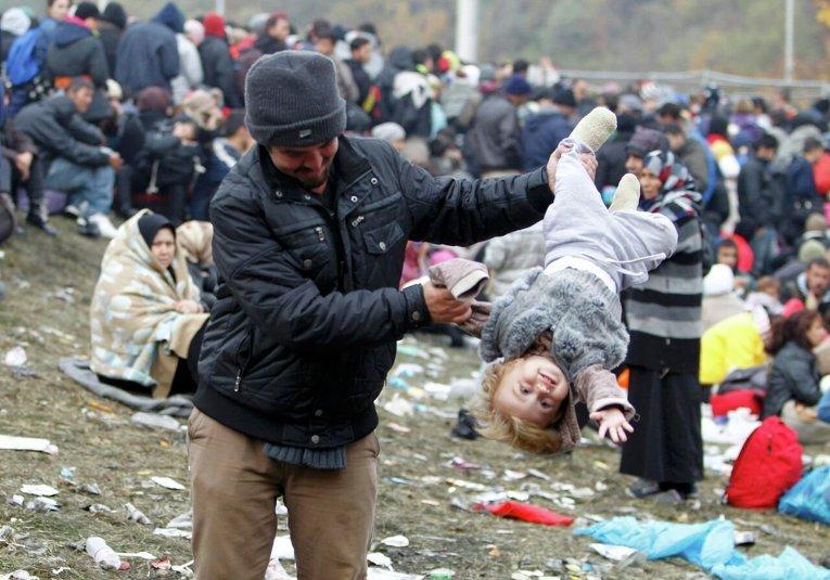 Мигранты с Ближнего Востоке в Австрии.