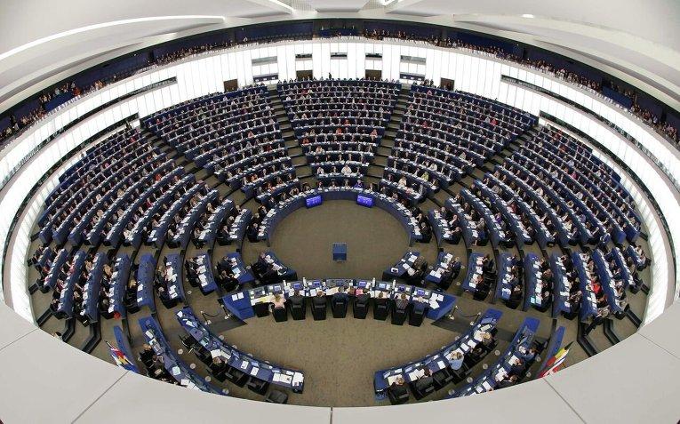 Заседание Европарламента в Страсбурге.
