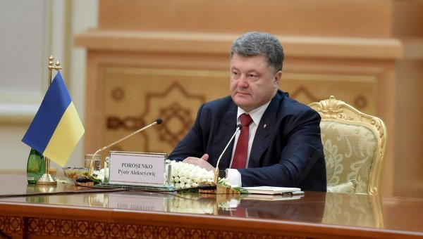 Петр Порошенко в ходе визита в Туркмению