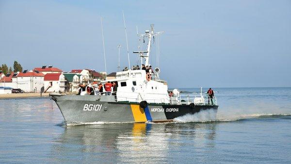 Катер Морской охраны Украины недалеко от места крушения катера Иволга. Архивное фото