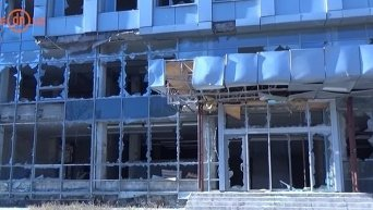 Разрушения в Киевском районе Донецка. Видео