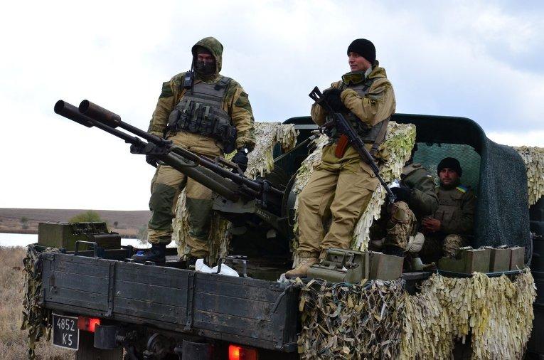 Маневры украинских десантников в зоне АТО