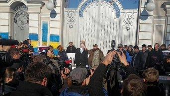 Активисты Автомайдана во время поездки к дому Порошенко