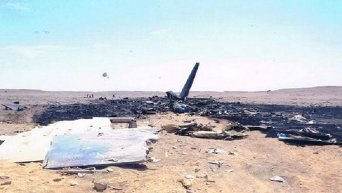 Место крушения российского лайнера на Синайском полуострове