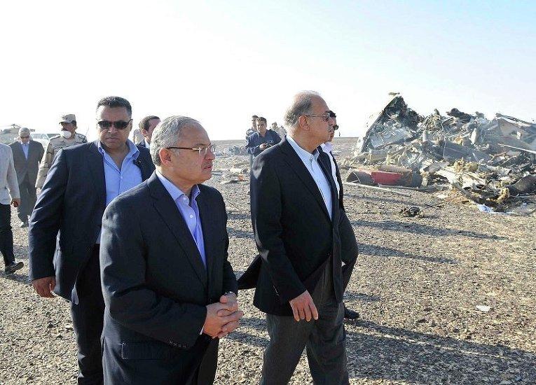 На месте крушения российского лайнера на территории Египта