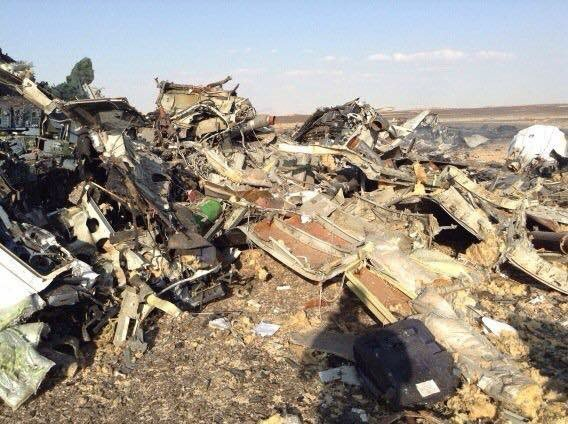 На месте крушения российского самолета в Египте