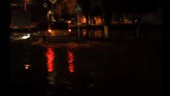 Потоп в Деснянском районе Киева. Видео