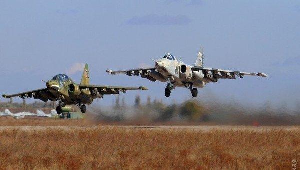 Су-25 ВВС Украины на учениях на полигоне Широкий лан