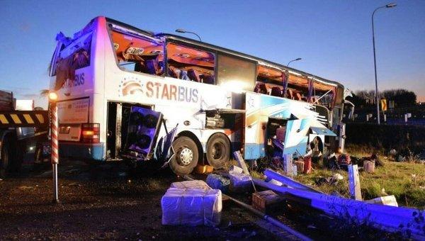 Автобус с украинцами попал в ДТП возле Вены